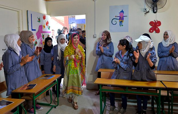 Malala Yousafzai w nowo otwartej szkole dla dziewcząt, które musiały uciekać z Syrii