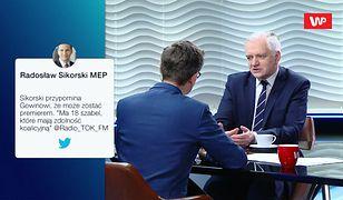 Jarosław Gowin odpowiada Sikorskiemu: Radku, nikt twoich zabaw nie traktuje na serio