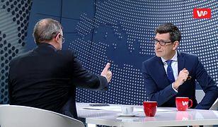 Minister Gliński wyszedł ze studia. Tadeusz Cymański komentuje. Emocje w studiu
