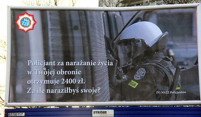 Pierwsze billboardy już stoją.