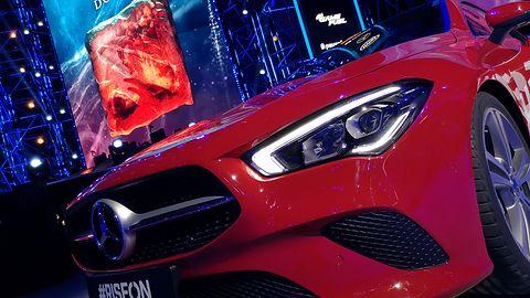 Mercedes CLA Coupé podczas ESL One 2019. Takim samochodem odjedzie najlepszy gracz