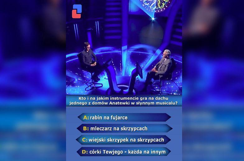 """""""Milionerzy"""". Pytanie za 125 tys. zł. Pan Krzysztof poległ..."""