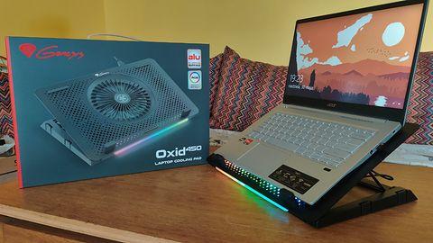 Genesis Oxid 450 RGB - podświetlana podkładka chłodząca do laptopa