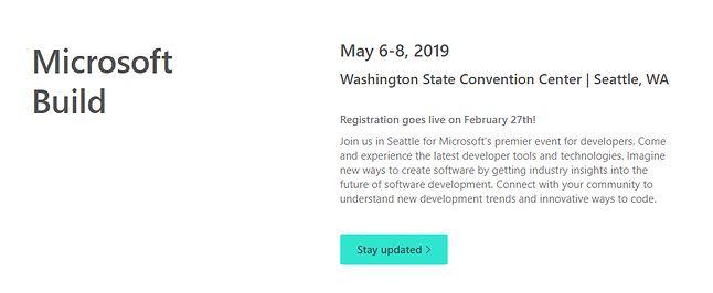 O Microsoft Build 2019 można już czytać na oficjalnej stronie wydarzenia.