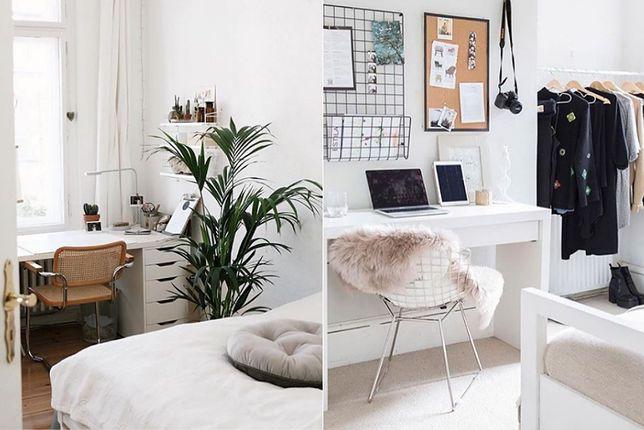 Ciekawa aranżacja domowego biura może powstać w sypialni