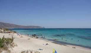Przepiękna laguna Elafonisi znajduje się na południowym-zachodzie Krety