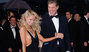 David Hasselhoff i Hayley Roberts na festiwalu w Cannes, 15. 05. 2013