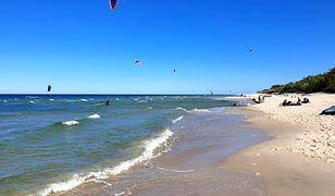 Plaża w Kuźnicy przyciąga turystów głównie w czasie sezonu letniego