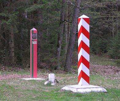 Znak graniczny, Polska-Białoruś, zdjęcie poglądowe