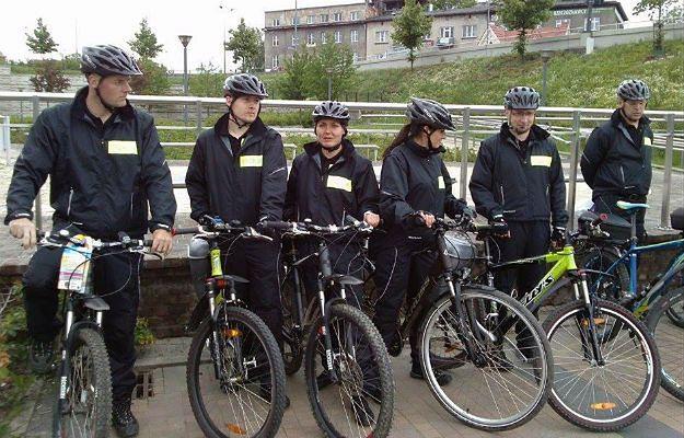 Rowerowe patrole strażników miejskich w Krakowie