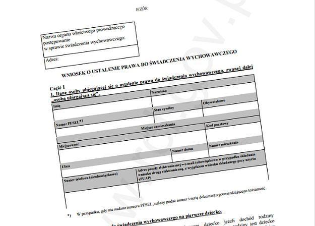 Rozporządzenie z wzorem wniosku o świadczenie 500 plus opublikowane w Dzienniku Ustaw
