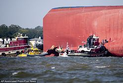 USA. Wideo z akcji ratunkowej na statku Golden Ray. Straż przybrzeżna uratowała resztę załogi