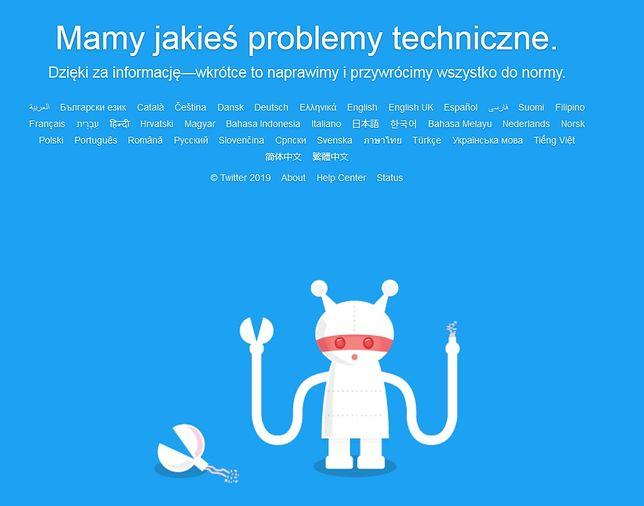 Twitter nie działa