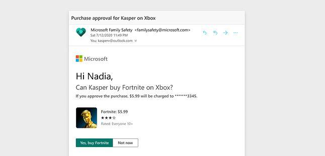kontrola rodzicielska zakupów w sklepie Microsoft/Xbox, fot. Microsoft