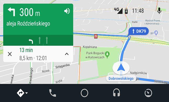 Dzienne kolory w Mapach Google.