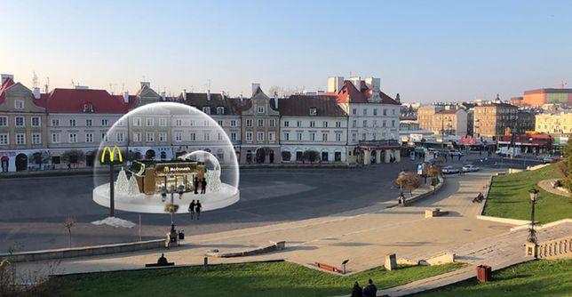 Tak prezentować się będzie szklana kula na placu w Lublinie