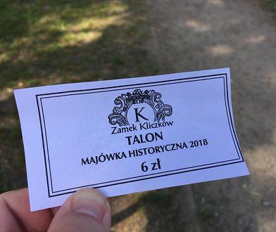 Talon, którym dokonywało się płatności w czasie imprezy