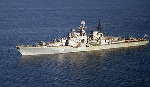 Rosyjski okręt wojenny - niszczyciel.