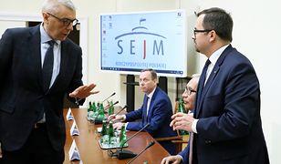 Roman Giertych, pełnomocnik Donalda Tuska i Marcin Horała, przewodniczący komisji ds. VAT