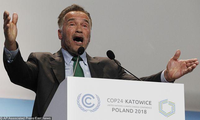 Katowice. Arnold Schwarzenegger gwiazdą szczytu klimatycznego