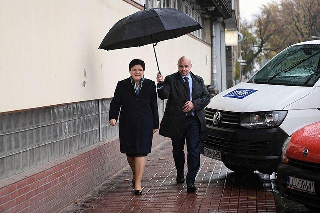 23.10.2018. Beata Szydło w drodze na posiedzenie kierownictwa Zjednoczonej Prawicy.