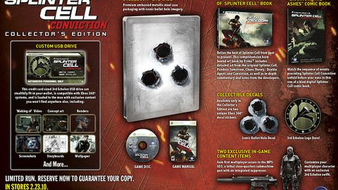 Oto oficjalna zawartość wersji limitowanej Splinter Cell: Conviction