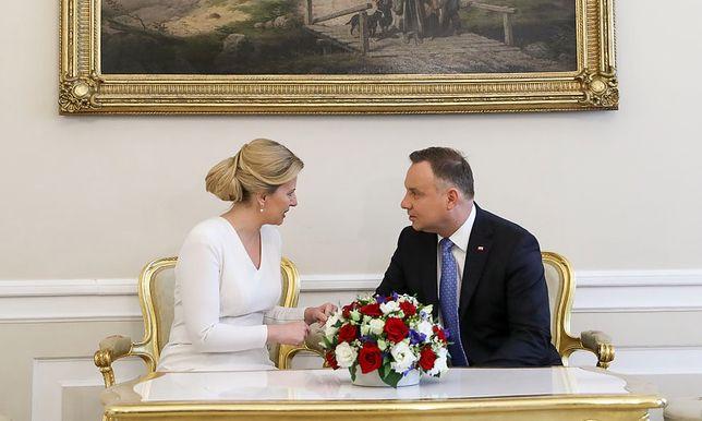 Zuzana Czaputova i Andrzej Duda rozmawiali w Pałacu Prezydenckim