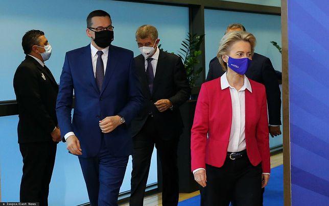 Bruksela. Premier Mateusz Morawiecki oraz szefowa KE Ursula von der Leyen