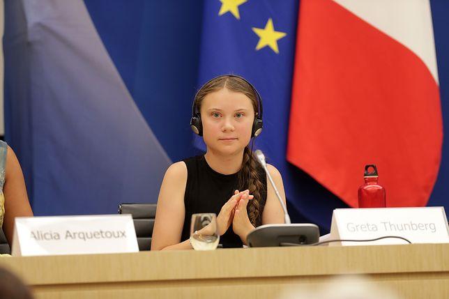 Greta Thunberg w trakcie Zgromadzenia Narodowego w Paryżu 23 lipca 2019 roku