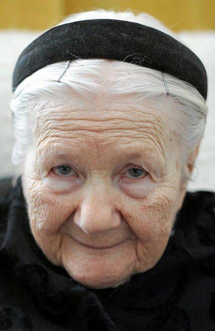 Irena Sendlerowa w dniu swoich 95. urodzin