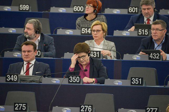 Strasburg (Francja), 11.02.2020. Posiedzenie w Europarlamencie na temat praworządności w Polsce.