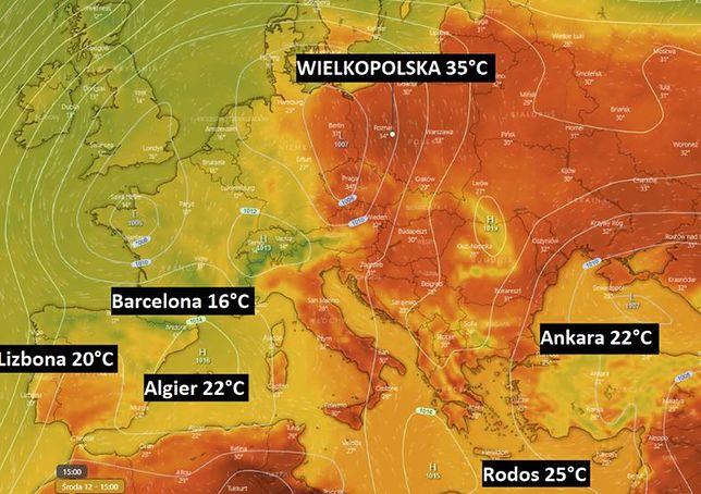 Pogoda. Ta prognoza powala. W Polsce cieplej niż w Hiszpanii