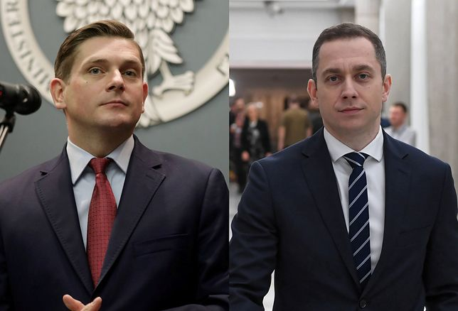 Bartosz Kownacki z PiS i Cezary Tomczyk z PO-KO