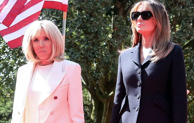 Melania Trump u boku Brigitte Macron