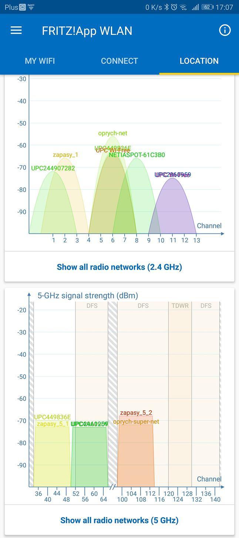 Odległość 20 m od routera, przeszkody: 1 x drzwi i 2 x ściana