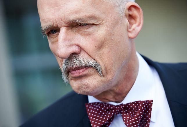 Janusz Korwin-Mikke odniósł się do plotek o połączeniu politycznych sił z Popkiem.