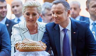 Agata Kornhauser-Duda towarzyszy mężowi podczas dożynek w Spale. Sierpień 2018 roku.