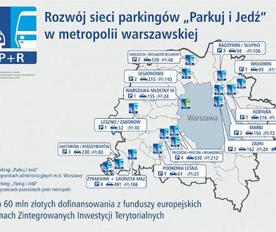 Kilkanaście nowych parkingów P&R. W stolicy i okolicach
