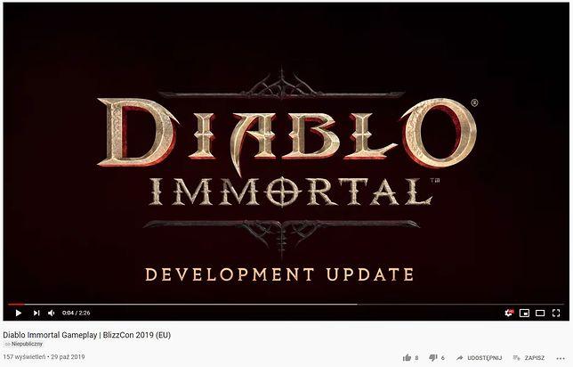 """""""Diablo Immortal"""" z dala od jupiterów ceremonii otwarcia"""