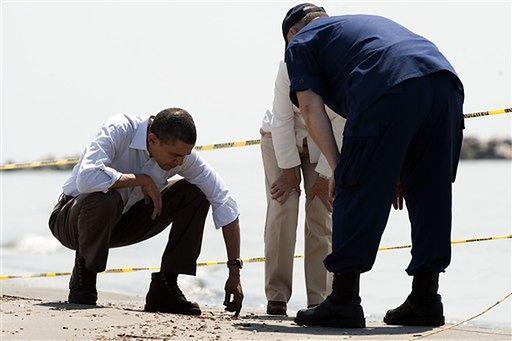 Obama na miejscu katastrofy ekologicznej