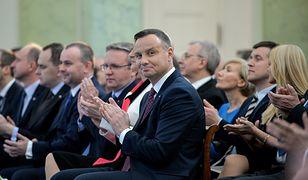 Towarzyskie spotkanie Andrzeja Dudy z posłami