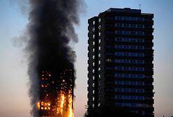 Potężny pożar apartamentowca w Londynie