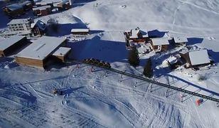 Najbardziej stroma kolejka w Europie w szwajcarskiej miejscowości Stoos