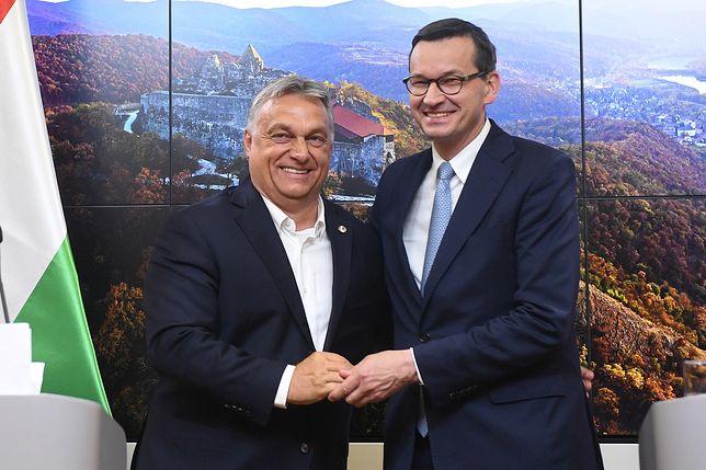 Budżet UE: Polskie weto w Brukseli. Na zdjęciu: premier Węgier  Viktor Orban i premier Mateusz Morawiecki