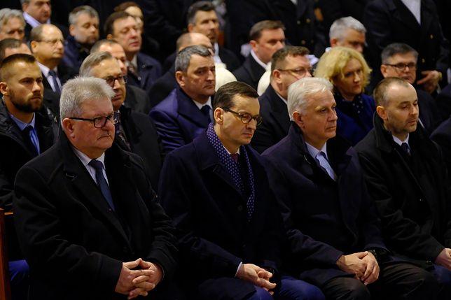 Premier Mateusz Morawiecki podczas obchodów 38. rocznicy pacyfikacji kopalni Wujek
