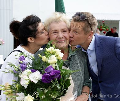 "Teresa Lipowska na planie ""M jak Miłość"""