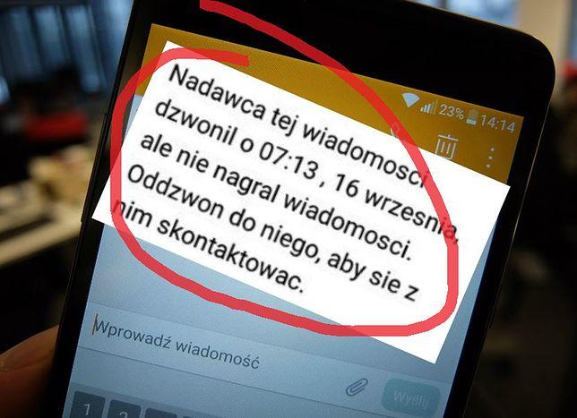 Tak wygląda prawdziwy SMS, fałszywy jest łudząco podobny
