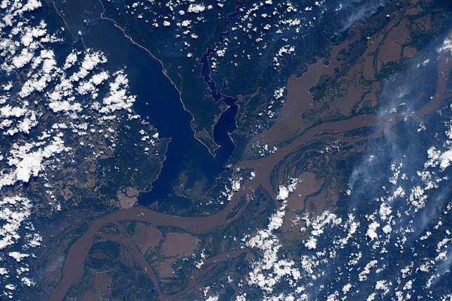 Amazonka widziana z ISS