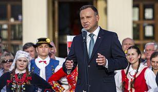 11 września 2018 roku. Prezydent Andrzej Duda przemawia w Leżajsku.