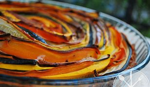 Tarta warzywna z kolorowych pasków. Smak jesieni